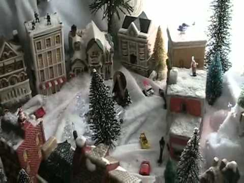 how to make a christmas village - Christmas Town Decorations