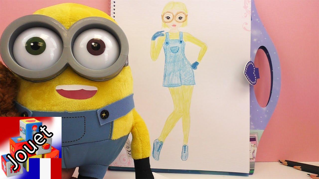 Le Livre De Dessin Topmodel Kathi Dessine Un Modele De Costume De Minion Speed Drawing