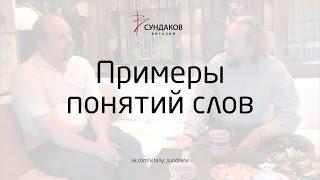 Примеры понятий слов - Виталий Сундаков