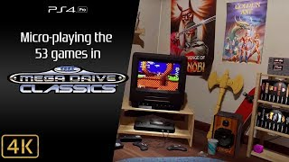 Sega Mega Drive Classics [PS4P] Micro-playing all 53 games