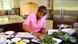 Mixed Kale, Collard Chicken Caesar Salad  And Cornbread Croutons: Chef Danielle Saunders