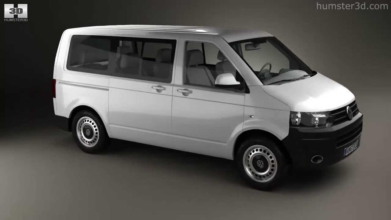 volkswagen transporter t5 kombi 2010 by 3d model store. Black Bedroom Furniture Sets. Home Design Ideas