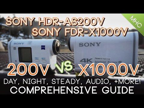 InDepth Sony HDR-AS200V Vs Sony FDR-X1000V