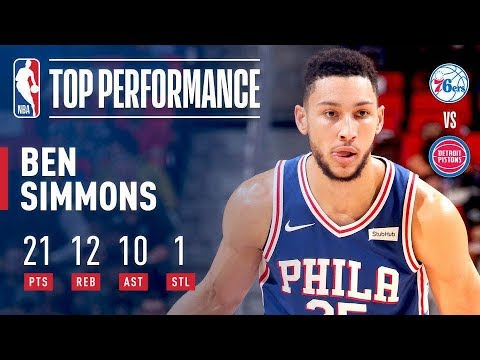 Ben Simmons Records First Career Triple Double | 21 Points, 12 Rebounds, 10 Assists