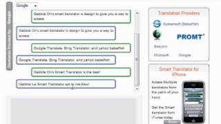 Smart Translator Demo - www.gabble-on.com
