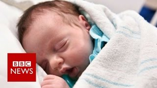 Baby girl who was 'born twice' - BBC News