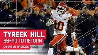 Tyreek Hill's 86-Yard TD & Goal Line High Five! | Chiefs vs. Broncos | NFL