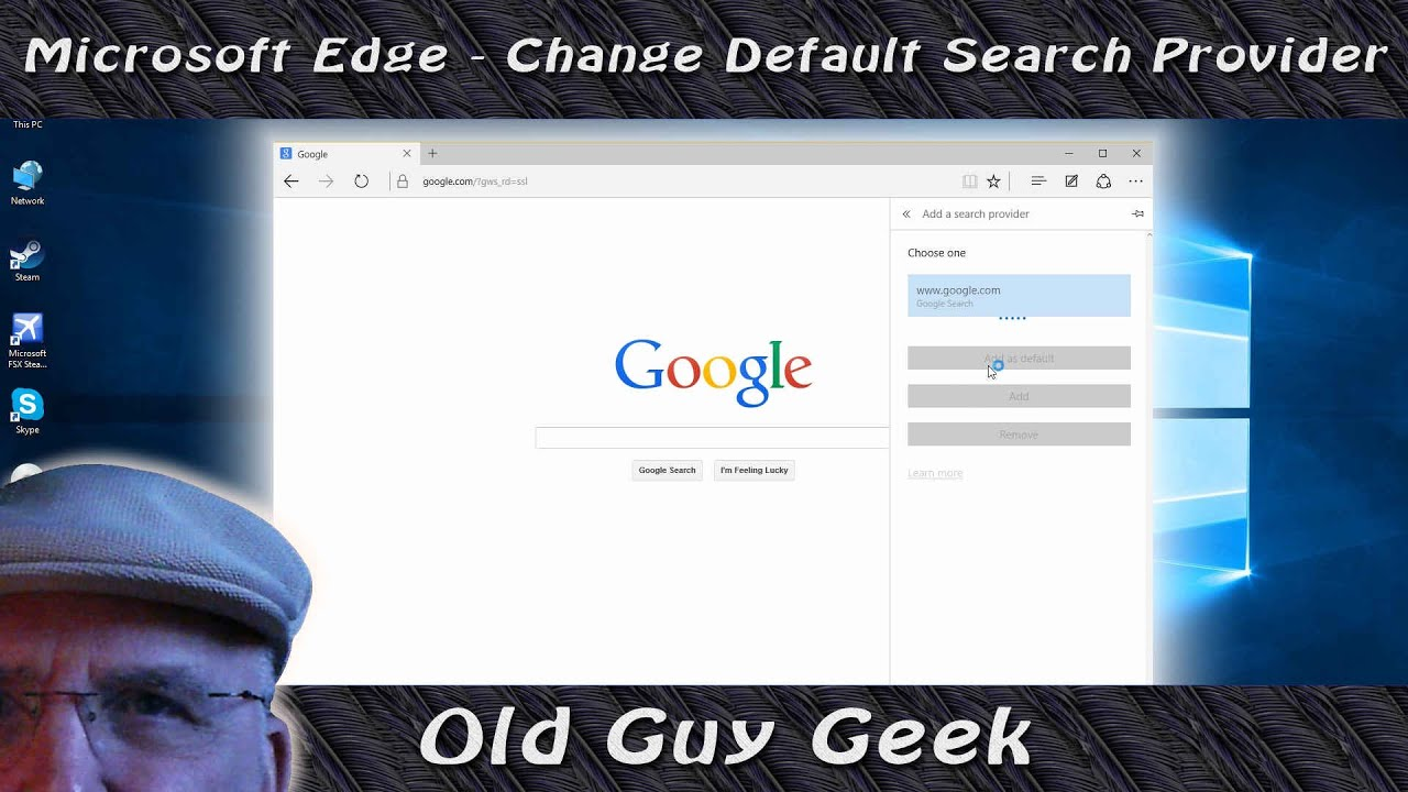 How to Change Default Search Engine in Windows 10
