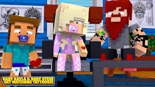Minecraft BABY KAYLA & HER BOYFRIEND GET MATCHING TATTOOS!!!