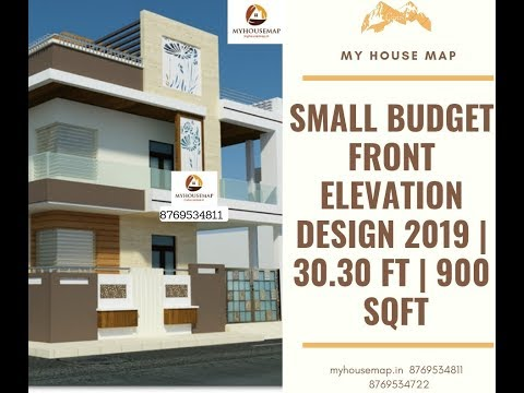 small budget front elevation design 2019 | 30.30 ft | 900 sqft