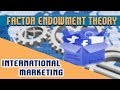 International Marketing : Trade Theory | Factor Endowment Theory