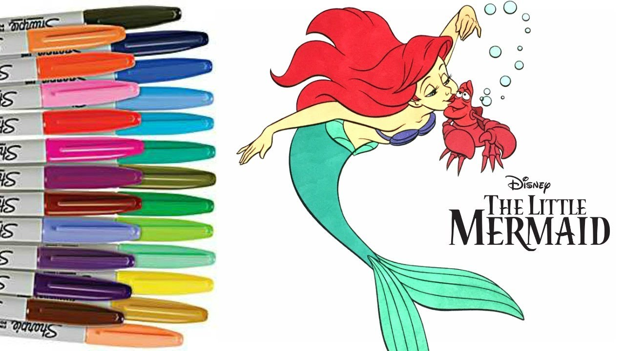the little mermaid coloring book page princess ariel sebastian colouring disney sprinkled donuts - Little Mermaid Coloring Book