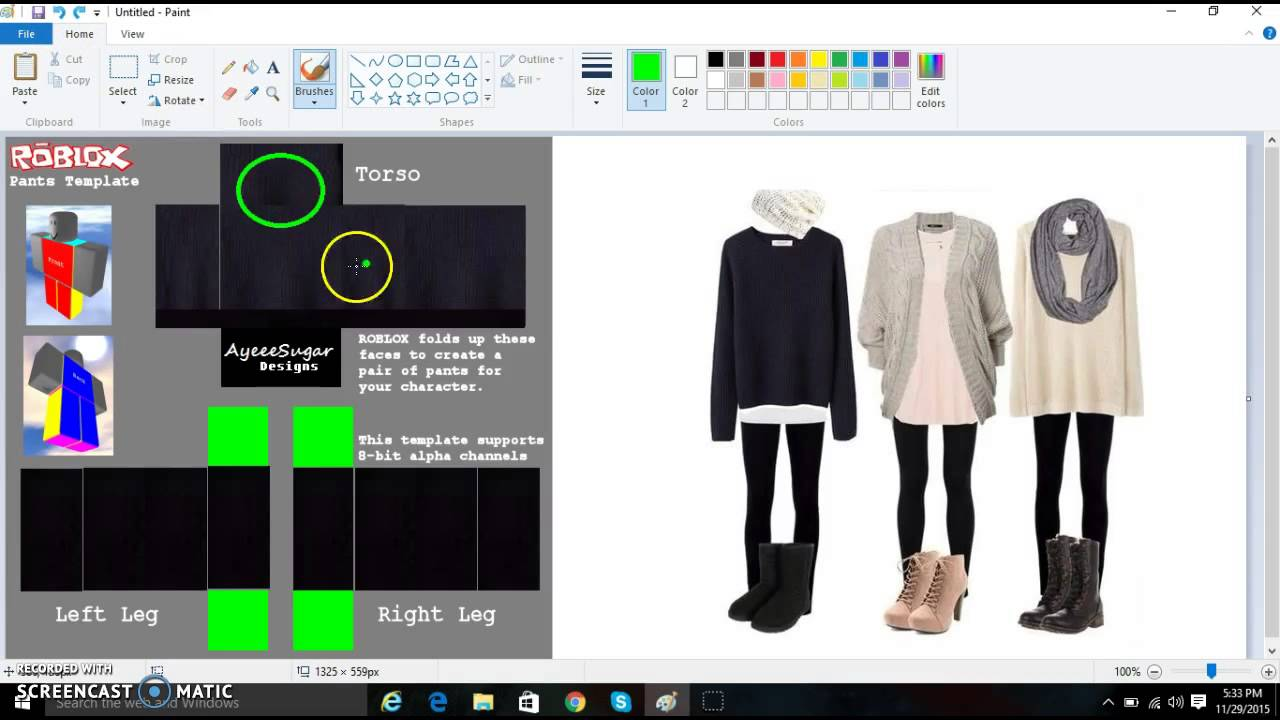 How to make clothes on roblox 2015 old doovi Roblox designing clothes
