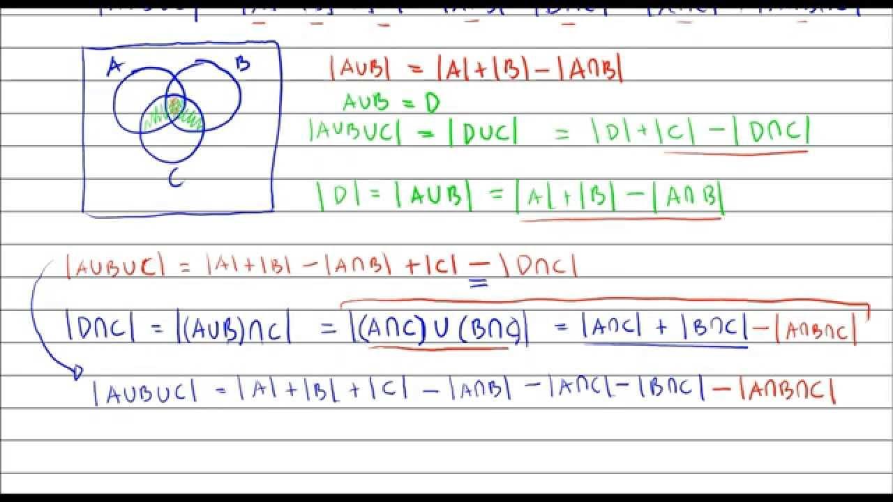 Matematika Dasar Perkuliahan Pembuktian Prinsip Inklusi Eksklusi 3 Himpunan Youtube