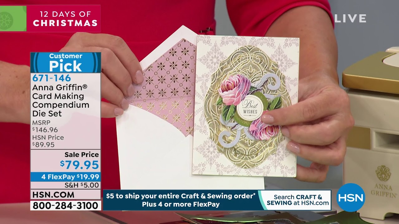 Anna Griffin Lace Edge Background Cutting Die Card Making Set of 2