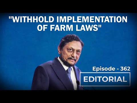 """Editorial with Sujit Nair: """"Why Can't You Withhold Farm Laws?"""" CJI Bobde Asks Centre"""