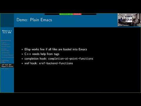 2019-04-03: Emacs As A C++ IDE - Jeff Trull, Ben Deane, Dirk Jagdmann