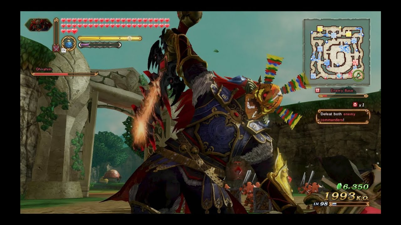 Hyrule Warriors Definitive Edition The Demon King Ganondorf Gameplay Disorderly Forces Lv2 Youtube