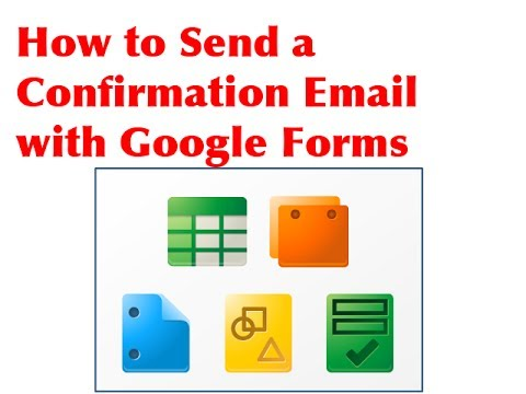 How to send a confirmation email with Google Forms - YouTube
