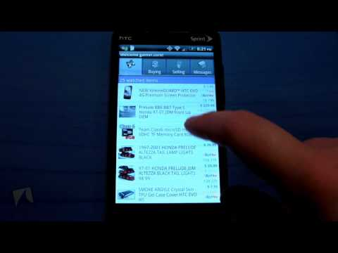Pocket Auctions for eBay by Bonfire Media, Inc. | Droidshark.com Video Review for Android