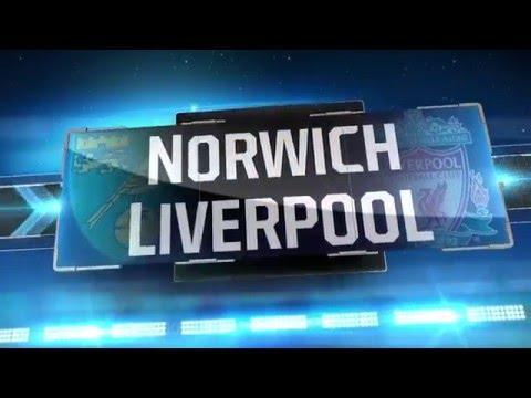 Premier League 2015/2016 Norwich vs Liverpool 4-5