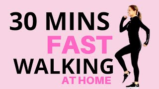 30 MINUTE WALK AT HOME | FAST WALKING FITNESS | EXERCISE VIDEO TO LOSE WEIGHT  Lucy Wyndham-Read