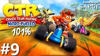 Zagrajmy w Crash Team Racing: Nitro-Fueled PL (101%) odc. 9 - Złote Relikty: Glacier Park