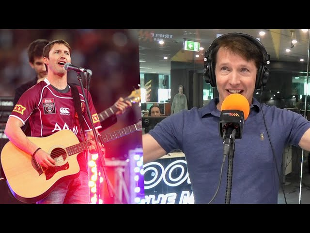 """No, You're Beautiful!"" James Blunt Discusses Awkward State Of Origin Performance 