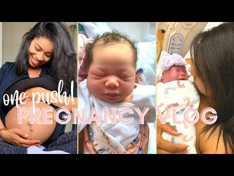 I GAVE BIRTH IN ONE PUSH w o AN EPIDURAL! : Natural Labor and Delivery Pregnancy Vlog