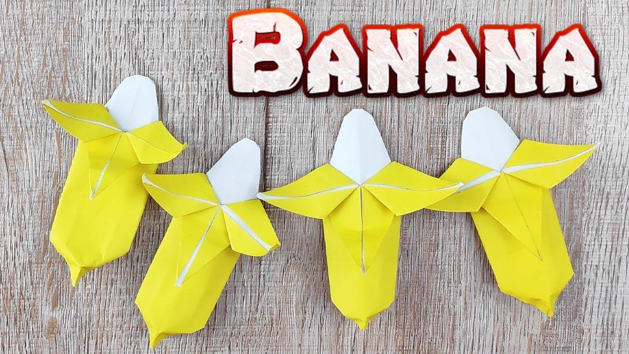 Paper model patron Papercraft papertoy papertrophy Origami DIY Banana