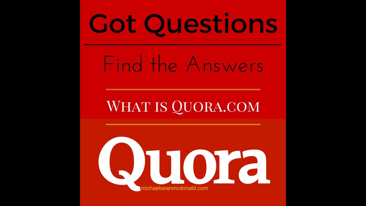 What is Quora.com - YouTube