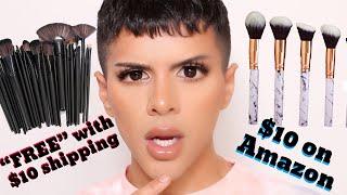 """FREE"" Makeup Brushes VS Amazon Makeup Brushes | Gabriel Zamora"