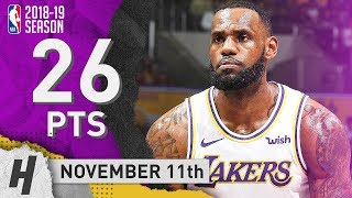 LeBron James Full Highlights Lakers vs Hawks 2018.11.11 - 26 Points, CLUTCH!