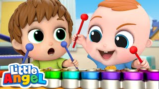 We Learn To Play Instruments | Little Angel Kids Songs