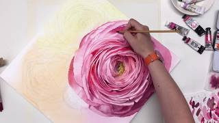 One way how to draw flowers. Ranunculus.