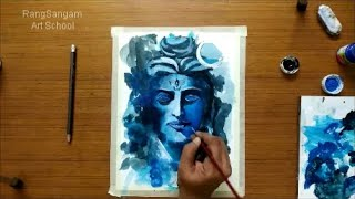 Lord Shiva Painting with Acrylics