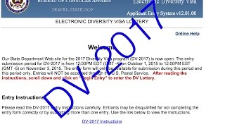 DV-2017 как заполнить анкету на Green Card лотерею