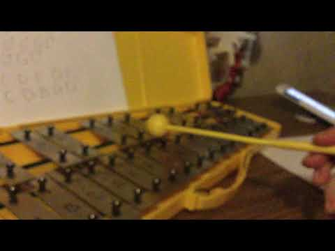 How to play the beginning of house of gold on the glockenspiel LOW ...