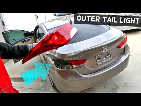 HOW TO REMOVE AND REPLACE OUTER TAIL LIGHT ON HYUNDAI ELANTRA