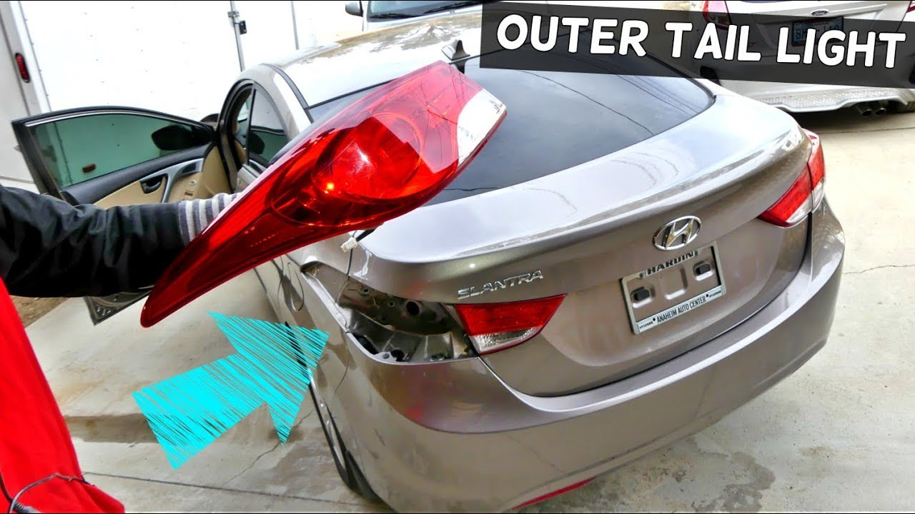 How To Remove And Replace Outer Tail Light On Hyundai