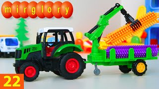 Машинки мультфильм - Город машинок - 22 серия: Экскаватор с грейферным ковшом. Развивающие мультики