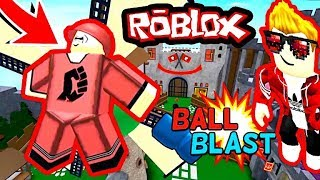 BALL BLAST ROBLOX / PUNCH PLASTIC BALLS TO CANNON IN ROBLOX!