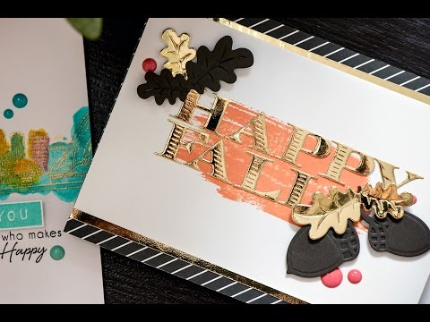 Creative Cafe Weekend Workshop: Fall Cards using Spellbinders Woodland Collection