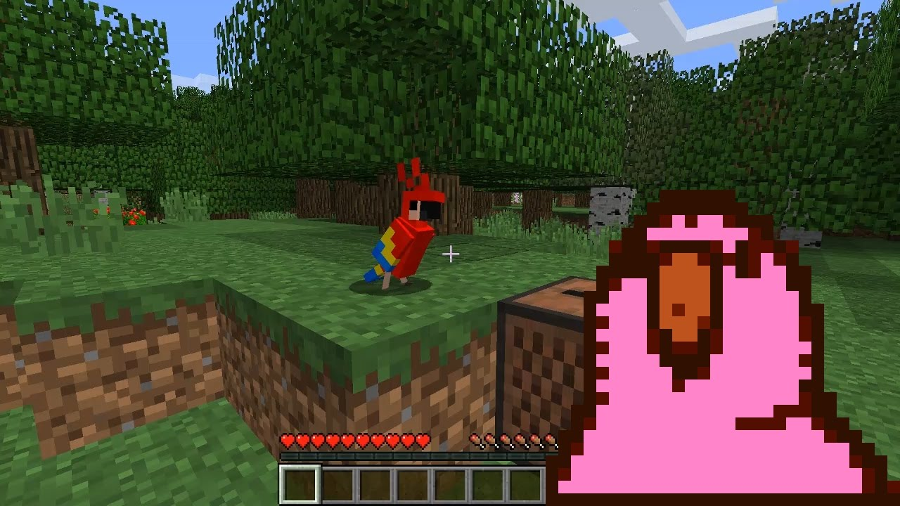 Dancing parrot (Minecraft 1.12, 17w14a) - YouTube