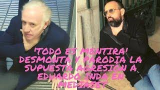 'Todo es mentira' desmonta y parodia la supuesta agresión a Eduardo Inda en Mediaset