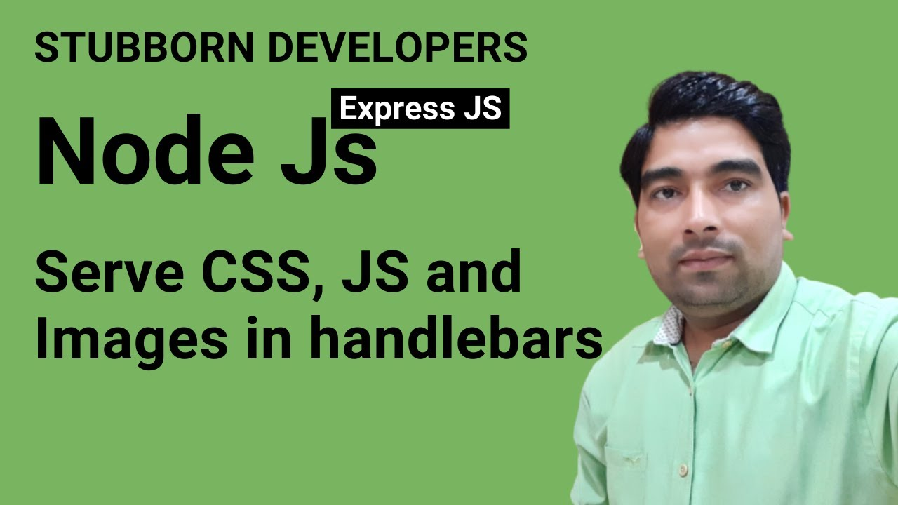 Serve CSS  JS and Images Files in Express JS | Use Middleware in Express | express.static