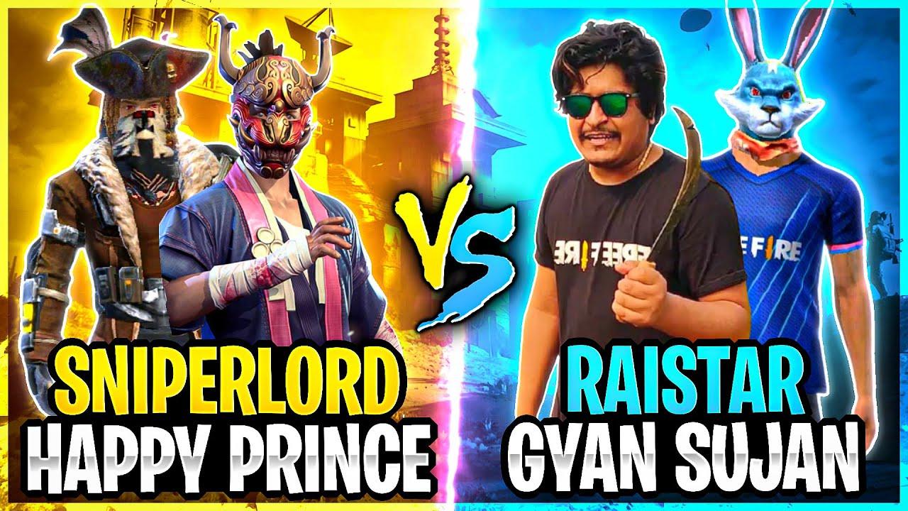 SNIPERLORD vs RAISTAR & GYANSUJAN!!🤯❤️GARENA FREE FIRE@Gyan Gaming @Rai Star