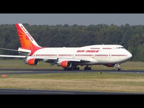 GOVERNMENT! Air India Boeing 747-400 [VT-EVB] Takeoff from Berlin Tegel [Full HD]