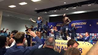 Как игроки сборной Франции ворвались на пресс конференцию