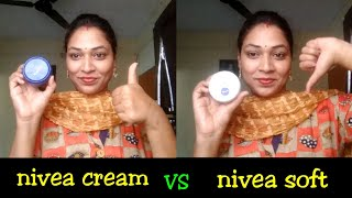 NIVEA cream VS NIVEA soft light moisturizer|which one is best and why...?